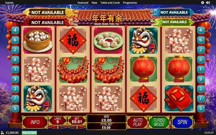 Slot Nian Nian You Yu untuk uang sungguhan oleh Playtech