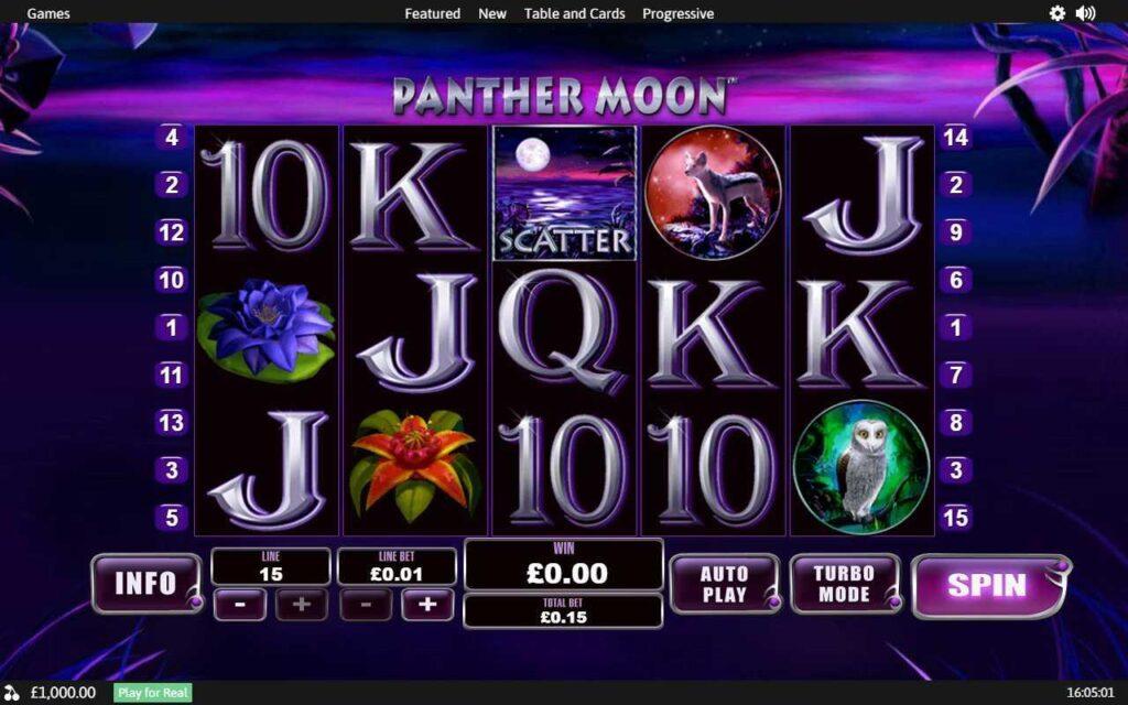 Slot Panther Moon untuk uang sungguhan oleh Playtech